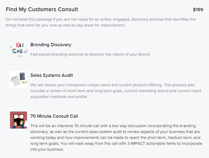 find my customers consult