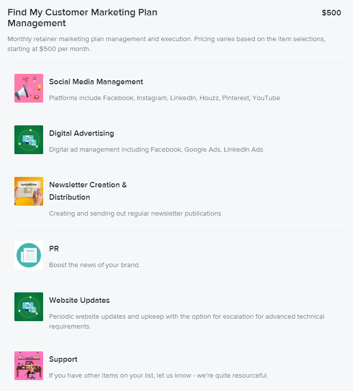 find my customer management plan